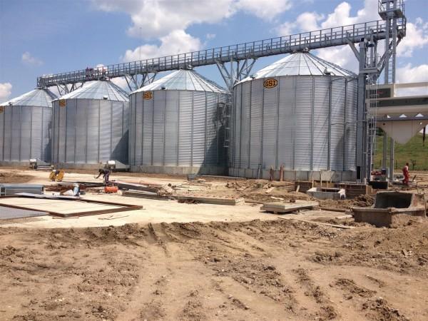 Construirea unui sistem de silozuri pentru cereale