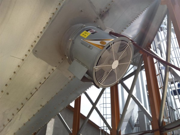Aerarea cerealelor din silozurile cu fund conic
